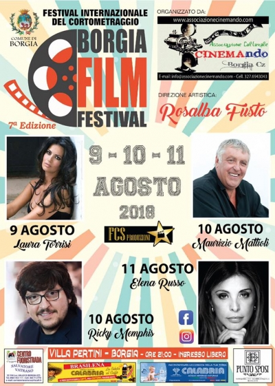 Diretta Video streaming Borgia Film Festival dal 9 al 11/08/2018
