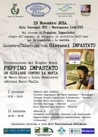 "Diretta  video streaming "" Nel ricordo di Peppino Impastato"" Montepaone 19/11/2014"