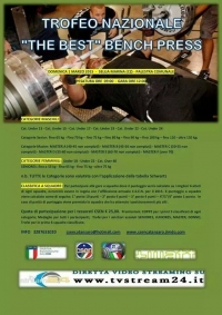 Diretta Video Streaming Trofeo Nazionale The Best Bench Press Sellia Marina Domenica 1 Marzo 2015