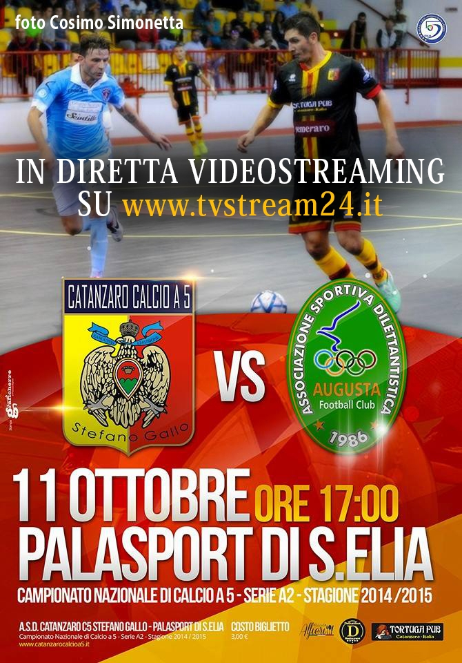 Diretta Video Streaming Catanzaro Calcio A5 - Augusta Serie A2 Calcio A5