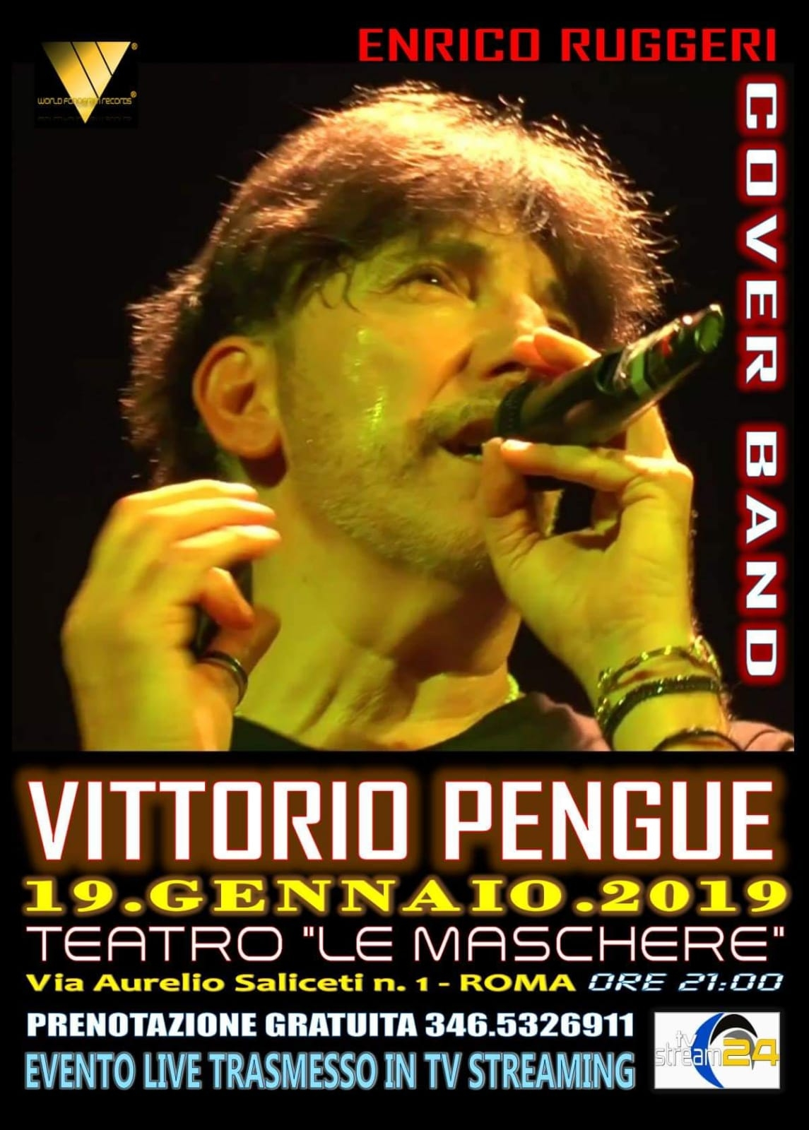 Diretta Streaming Vittorio Pengue Cover Band Enrico Ruggeri 19 01 2019
