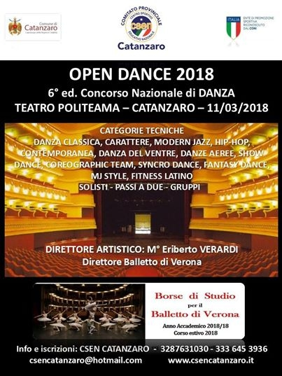 OPEN DANCE 2018 Diretta videostreaming