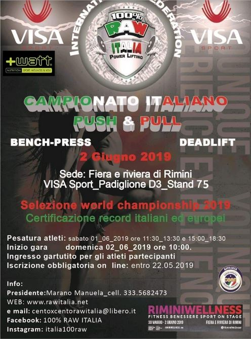 Campionato Italiano Push & Pull 1-2 giugno 2019 Diretta Video Streaming