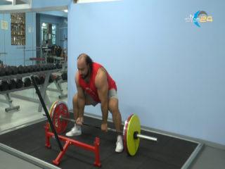 Zahir Khudayarov in visita alla Scolacium Gym