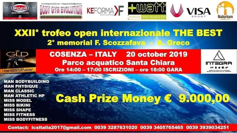 XXIITrofeo Open internazionale The Best 20/10/2019
